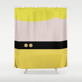 Tasha Yar   Minimalist Star Trek TNG The Next Generation Lieutenant Startrek  Trektangles Shower Curtain