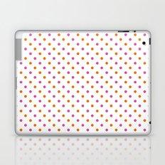 Fun Dots pink orange Laptop & iPad Skin