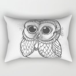 OWL ON THE LOOK OUT.... Rectangular Pillow