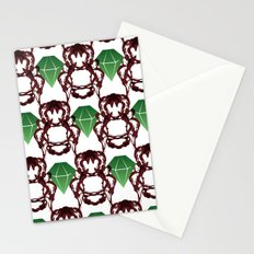 Emeralds & Demons [WHITE] Stationery Cards