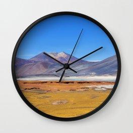 Atacama Salt Lake Wall Clock