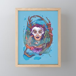 earth • wind • fire • WATER: Vibrant Framed Mini Art Print