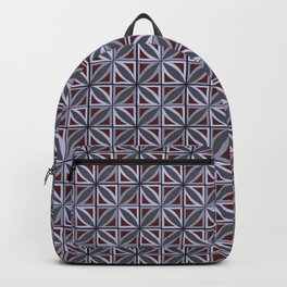 Star Ditsy Red & Grey Backpack