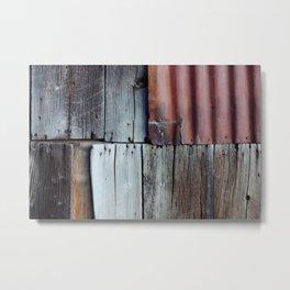 Abandoned Texture Metal Print