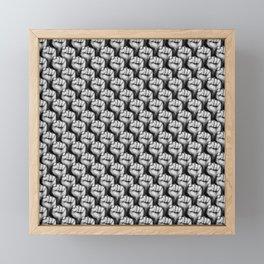 Fight the power / 3D render of raised fists Framed Mini Art Print