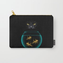 Black Cat Goldfish Carry-All Pouch