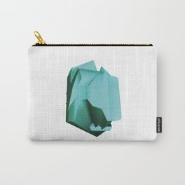 3D turquoise flying object  Carry-All Pouch