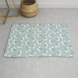 Minimalistic print with cotton 2.  Rug