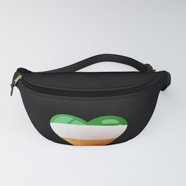Cute Heart Ireland Flag print Celtic Saint Patrick Day Fanny Pack