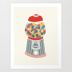 Gum Ball Machine Art Print