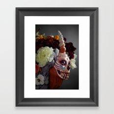 Tiger Blossom Muertita Detail Framed Art Print