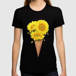 Ice cream with sunflowers T-shirt