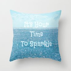 Sparkle time Throw Pillow