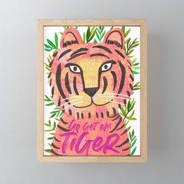 Go get em tiger Framed Mini Art Print