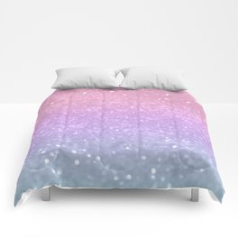 Unicorn Princess Glitter #1 #pastel #decor #art #society6 Comforters