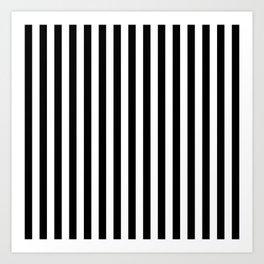 Stripe Black & White Vertical Art Print