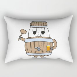 Beer-Barrel Egg Rectangular Pillow