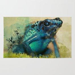 Blue poison frog Rug
