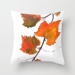 grapevine in autumn Throw Pillow