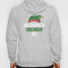 Mechanical Engineer Elf Christmas Holiday Hoody