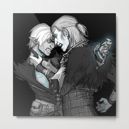 Why Can't We Be Friends? Metal Print