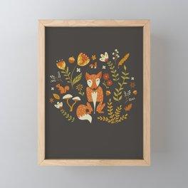 Fox in an Autumn Garden Framed Mini Art Print