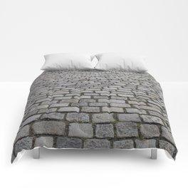 cobble stone pavement Comforters