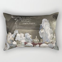 They've come for tea, & for supper, & for you Rectangular Pillow