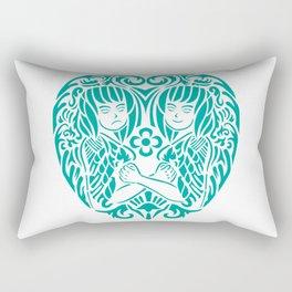gemini siam style Rectangular Pillow