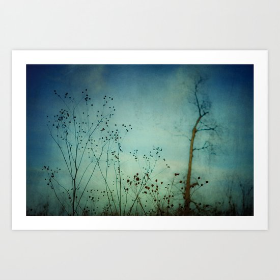 Fleeting Moment - Blue Shades Art Print