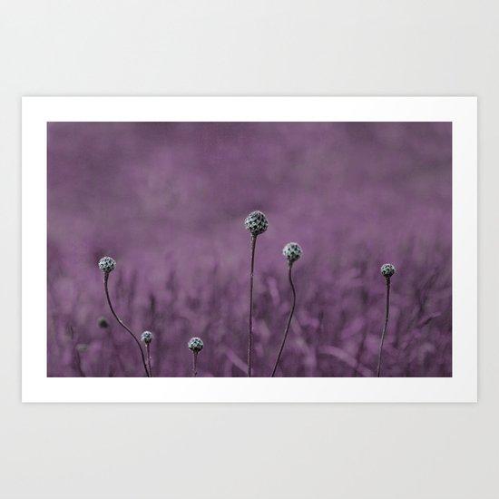 Nature purple garden Art Print