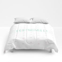 Formidable Lettering Comforters