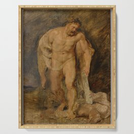 Peter Paul Rubens - Hercules as victor over Discord Serving Tray