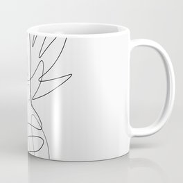 One Line Pineapple Coffee Mug