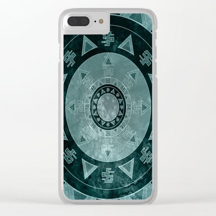 ethnic mandala with watercolors Clear iPhone Case