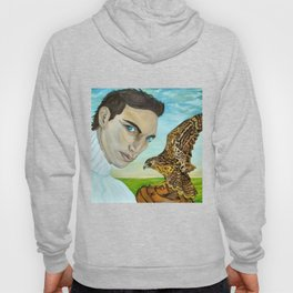 """Peale's (Peregrine) Falcon and the Portrait of a Man"". Hoody"