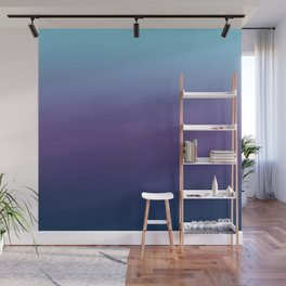Ombre Blue Ultra Violet Gradient Pattern Wall Mural