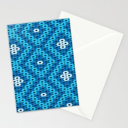 Mexican Blue Huichol Art Stationery Cards