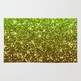 Shimmering Light Green Gold Glitters Rug
