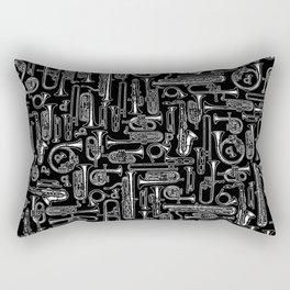 Horns B&W Rectangular Pillow