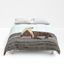 sea lion mono Comforters
