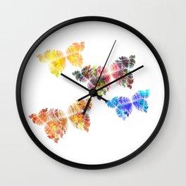 Gruß der Schmetterlinge  (A7 B0142) Wall Clock