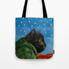 Winter Kitten Tote Bag
