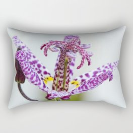 Toad Lily Side Perspective Rectangular Pillow