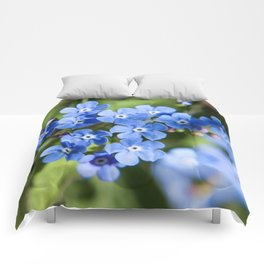 Forget Me Not Photography Print Comforters