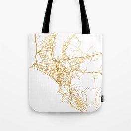LIMA PERU CITY STREET MAP ART Tote Bag