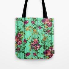 Flowers on Wood 02 Tote Bag