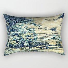 Oriental Hillside Rectangular Pillow