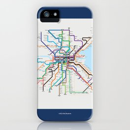 Dublin Frequent Transport Map V10 iPhone Case