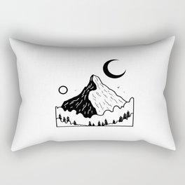 Montagnes dans les nuages 2 Rectangular Pillow